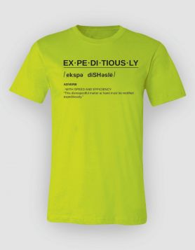 Definition Neon Green Tee/Black Print