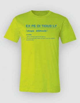 Definition Neon Green Tee/Blue Print