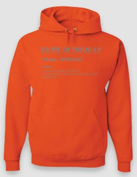 Definition Orange Hoodie/Reflective Print