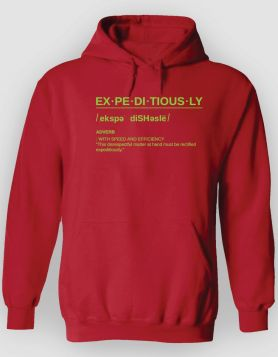 Definition Red Hoodie/Neon Green Print