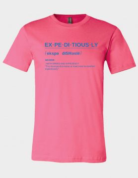 Definition Pink Tee/Blue Print
