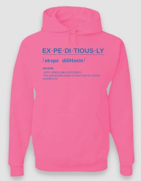 Definition Pink Hoodie/Blue Print