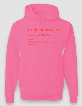 Definition Pink Hoodie/Orange Print