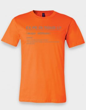 Definition Orange Tee/Reflective Print
